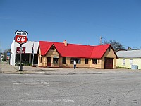 USA - Baxter Springs KS - Restored 1930 Phillips 66 Station (15 Apr 2009)