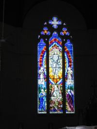 Rockhampton - St Josephs Stained Glass Window Behind Altar