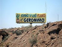 USA - Geronimo Trading Post AZ - I-40 Sign 2 (25 Apr 2009)