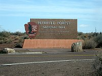 USA - Petrified Forest National Park AZ - Entrance Sign (24 Apr 2009)