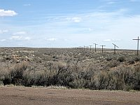 USA - Petrified Forest National Park AZ - Overgrown Route 66 & Old Power Poles (24 Apr 2009)