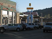USA - Williams AZ - Arixona Motor Hotel Neon Sign (26 Apr 2009)