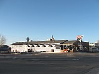 USA - Williams AZ - Rods Steak House & Neon Sign (26 Apr 2009)