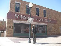 USA - Winslow AZ - Standin' on the Corner Statue (25 Apr 2009)