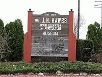 USA - Atlanta IL - J H Hawes Grain Elevator (1903) Sign (9 Apr 2009)