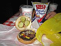 USA - Chicago IL - Billy Goat Tavern Double Cheeseburger (6 Apr 2009)