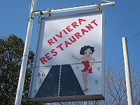 USA - Gardner IL - Closed Riviera 1928 Restaurant Betty Boo Sign (8 Apr 2009)