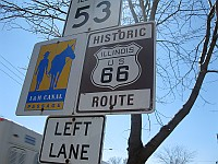 USA - Joliet IL - Historic Route 66 Sign (7 Apr 2009)