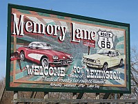USA - Lexington IL - Memory Lane Welcome Sign (9 Apr 2009)