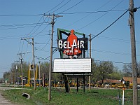 USA - Mitchell IL - Bel Air Drive In Sign (11 Apr 2009)