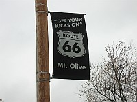 USA - Mt Olive IL - Town Route 66 Sign (10 Apr 2009)