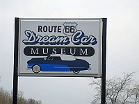 USA - Williamsville IL - Route 66 Dream Car Museum Sign (9 Apr 2009)
