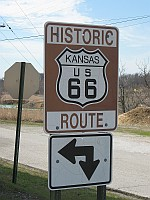 USA - Galena KS - Route 66 Badge (15 Apr 2009)