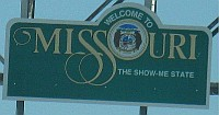 USA - St Louis MO - Welcome to Missouri Sign (11 Apr 2009)
