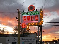 USA - Albuquerque NM - Garcia's Cafe Neon Sign (24 Apr 2009)