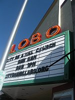 USA - Albuquerque NM - Lobo Theatre Neon Sign (24 Apr 2009)