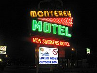 USA - Albuquerque NM - Monterey Non-Smokers Motel Neon Sign (Maloney) (24 Apr 2009)