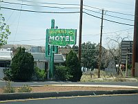 USA - Albuquerque NM - Westward Ho Motel Neon(24 Apr 2009)