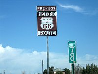 USA - Dilia NM - New Mexico Route 66 Sign (23 Apr 2009)