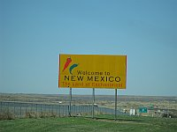 USA - Endee NM - Welcome to New Mexico Sign (21 Apr 2009)