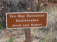 USA - Pecos NM - Pecos National Historical Park Rattlesnake Warning (23 Apr 2009)