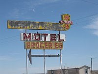 USA - San Fidel NM - Abandoned Whiting Brothers Complex Neon Sign (24 Apr 2009)
