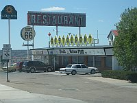 USA - Santa Rosa NM - Route 66 Restaurant & Old Neon Sign  (21 Apr 2009)