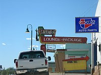 USA - Santa Rosa NM - Sahara Lounge Neon Sign  (21 Apr 2009)