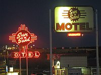 USA - Santa Rosa NM - Sun n Sand Motel Neon Sign (21 Apr 2009)