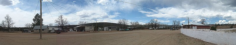 USA - Tecolote NM - Village Square Panoramic (23 Apr 2009)