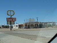 USA - Tucumcari NM - Abandoned Drive-In Diner &  Neon Sign (21 Apr 2009)
