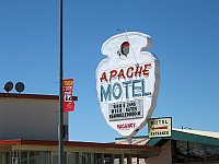 USA - Tucumcari NM - Apache Motel Neon Sign (21 Apr 2009)