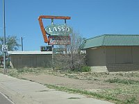 USA - Tucumcari NM - Lasso Motel Neon Sign (21 Apr 2009)