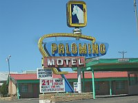 USA - Tucumcari NM - Palomino Motel Neon Sign (21 Apr 2009)