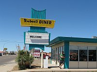 USA - Tucumcari NM - Rubees Diner Sign (21 Apr 2009)