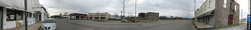 USA - Afton OK - Main Street Panoramic (16 Apr 2009)
