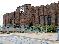 USA - Chandler OK - Route 66 Interpretive Centre (1937 Armoury Building) (17 Apr 2009)