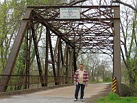 USA - Chelsea OK - David & 1926 Iron Bridge (16 Apr 2009)