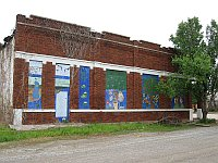 USA - Depew OK - Murals on Abandoned Buildings (17 Apr 2009)