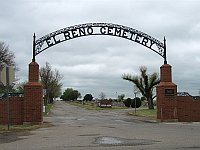 USA - El Reno OK - Cemetary Sign (19 Apr 2009)