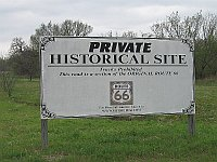 USA - Luther OK - Private Route 66 Sign (17 Apr 2009)