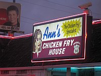 USA - Oklahoma City OK - Anns Chicken Fry House Sign (18 Apr 2009)
