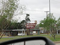 USA - Oklahoma City OK - Western Motel Neon Sign (19 Apr 2009)