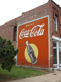 USA - Stroud OK - Old Coke Advertisement (17 Apr 2009)