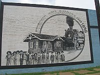 USA - Stroud OK - Rail Mural (17 Apr 2009)