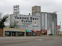 USA - Yukon OK - Yukons Best Flour Grain Elevator (19 Apr 2009)