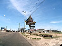 USA - Amarillo TX - Abandoned Ding Ho Chinese Restaurant Neon Sign (20 Apr 2009)
