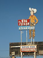 USA - Amarillo TX - Big Texan Sign (20 Apr 2009)