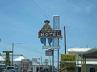 USA - Amarillo TX - Cowboy Motel Neon Sign (20 Apr 2009)