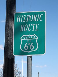 USA - Amarillo TX - Route 66 Sign (20 Apr 2009)